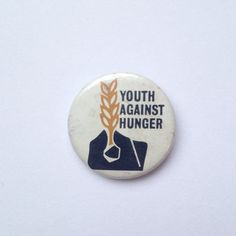 Vintage 1960s political slogan pin badge by GalabeerandtheDog, on Etsy.