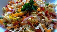 Coleslaw, Cabbage, Salads, Food And Drink, Rice, Chicken, Meat, Vegetables, Cooking