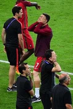 #EURO2016 Joy for Cristiano Ronaldo of Portugal as his team win the European Championship Final between Portugal and France at Stade de France on July 10 2016...