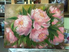 Oil Painting Flowers, Abstract Flowers, Oil Painting Abstract, Watercolor Paintings, Arte Floral, Flower Art, Art Drawings, Art Projects, Acrylics