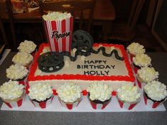 Movie Party Cake This is cute too!