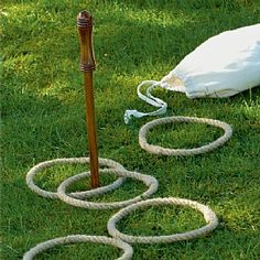 Mike loves outdoor games lately, this would be a simple and fun one that takes sooooo little storage!  Museum Selection Rope Quoits Set