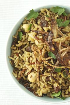 » MIXED RICE W/ CHICKPEAS, CURRANTS & FRIZZLED ONIONS Diva Eats World