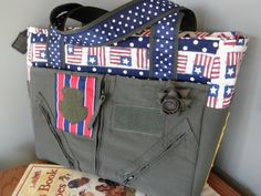 A patriotic diaper bag by, flybagz