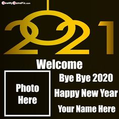 Name Write Greeting Card Bye Bye 2020 Wishes Images, Make Photo Frame Create Online Welcome And Goodbye New Year Celebration, Special Name With Photo Add Latest Best Collection Pictures Happy New Year, 2020 Bye Wallpapers Download High Quality Mobile or Desktop Size Pic.