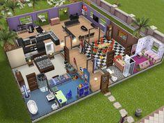 sims freeplay houses game mobile modern google games play rumah floor layout bangun mansion plan nz template
