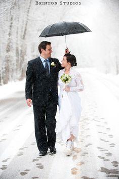 :) - would love a snowy wedding....