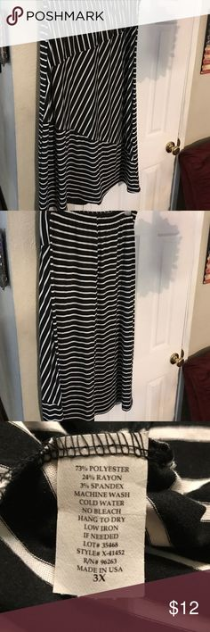 New PIN STRIPES SKIRT BLACK WHITE Great fit ⭐️🎓FUNDRAISING FOR COLLEGE⭐️🎓 Brand New PIN STRIPES SKIRT BLACK WHITE SZ 3x ---my opinion it fits like 2X pine Skirts Maxi