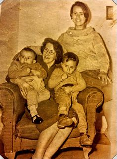 My dad (right child) and his little brother older sister and aunt in Montevideo Uruguay circa 1967