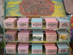 Great Display, pretty soap - Soap of the Month 6mo by CleanGetawaySoap on Etsy