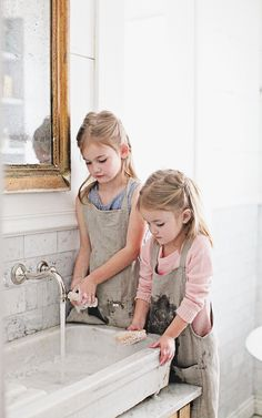 French stone sinks are one of my favorite ways to add some French charm to a bathroom and kitchen. Stone Sink, Cabin Kitchens, Pop Up Shops, Photography Workshops, French Farmhouse, Sinks, Bathrooms, Flower Girl Dresses, Outdoors