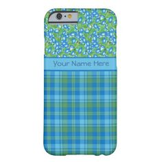 A light-weight and slim Case to personalize for your iPhone 6 smartphone, with a pattern of blue Morning Glory flowers teamed with a matching Plaid pattern. Part of the Posh & Painterly 'Morning Glory' collection, this pattern will fit all of the cases. Up to $47.95 - http://www.zazzle.com/blue_morning_glory_and_plaid_slim_iphone_6_case-256660381684055541?rf=238041988035411422&tc=pintw