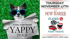 Pet-related Tampa businesses, Flicks + #FoodTrucks is looking for a few vendors to round out November 17th's event. Interested? Contact TampaBayMarkets@gmail.com