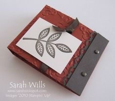 This matchbook is so easy to make and is sized perfectly to hold an individually wrapped Ghiradelli square