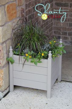 DIY Outdoor Planter Box from @Shanty-2-Chic.com for only $15!!  #ryobination #diy