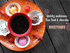 Quirky ambience, fine #food & #sheesha @ #RUSTYARD. Address: Surmount tower, Shop no 22,1st floor, above tea post, opp. iscon mega mall, service road, S G Highway. Phone: 9870111114 #Restaurants #Hookah #Cafes #CityShorAhmedabad