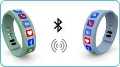 Hicon: smart wristband social bracelet with interchangeable social network icons Social Network Icons, Gps Watches, Smart Bracelet, Entrance Exam, Accessories
