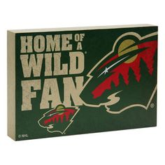 "Minnesota Wild 14"" Wood Block"