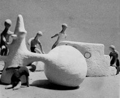 If you don't know the play sculpture of Hungarian Pierre Szekely (one of Simon and Tom Bloor's inspirations below ), the definitive sourc. Modern Playground, Contemporary Plays, Outdoor Play Spaces, Cheap Furniture Online, Square Art, Ceramic Figures, Sand Art, Urban Furniture, Ikea Furniture