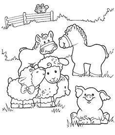 coloring page little people kids n fun