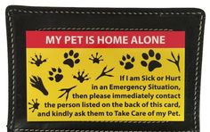 If you are ever in an accident, sick or injured and are unable to return home to care for your pet(s), Our Pet Care Card can be easily seen, alerting those around you that your pet(s) needs care. The #PuppyCare