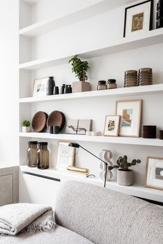33 Nice Shelving Ideas For Your Living Room Decor - The living room should be a place for relaxing as well as housing everything from DVDs and games to books and magazines. Therefore it needs to have pl. Interior Ikea, Home Interior, Living Room Interior, Living Room Decor, Interior Lighting, Interior Design Boards, Interior Colors, Interior Plants, Bedroom Decor