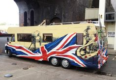 Graffiti Van / RV / Camper   Graffiti Design, hand painted mural   fallen soldiers, armed forces , union jack , Japanese tattoo