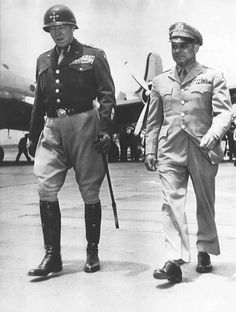 George S. Patton and Jimmy Doolittle in George S. Patton and Jimmy Doolittle in Military Personnel, Military Men, Military History, Military Veterans, Military Uniforms, George Patton, Us History, American History, Old Blood