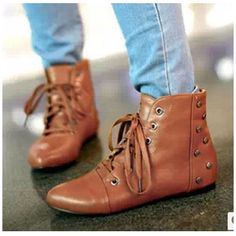 Cheap boots inline, Buy Quality boots nylon directly from China boot boot Suppliers:Flats Ankle Boots New 2014 Brand Summer & Winter Short Boots Botas Femininas Rivet Women Martin Motorcycle Boots 34-43 N
