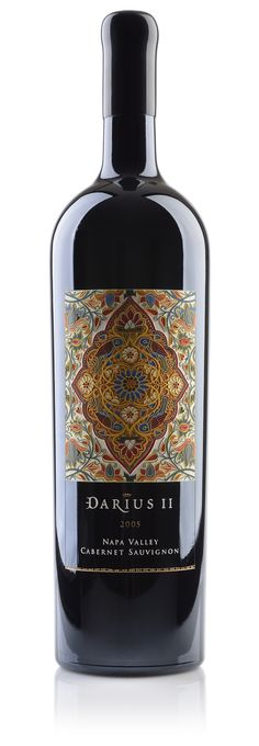Darioush DariusII - The Dieline - Absolutely gorgeous etched bottle design.