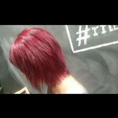 """Awesome dark red Elumen hair by Rick - at R&B Haircraft          """"Creativity is intelligence having fun.""""  9874 6047  Colourist: Ricky C  #style #Melbourne #hair #Qaba #rnbhaircraft #moreawesome #sharkie #ootd #grunge #redhair"""