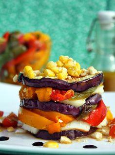 Amapola, el mundo en un plato: Ensalada templada mediterranea