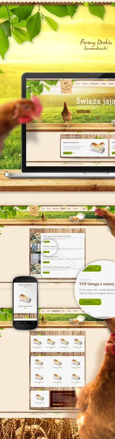 Fermy Drobiu Lewandowski by Karol Sidorowski, via Behance Lewandowski, Ui Design, Behance, Poultry, Haha, Backyard Chickens, User Interface Design