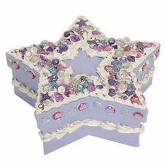 Decorated star box with Dress It Up Buttons, We LOVE Decoden! www.dressitup.com