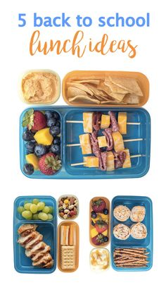 We love how easily these 5 back-to-school lunch ideas pair with Rubbermaid LunchBlox®. With everything from recipe inspiration, kid-friendly meal ideas, and creative, kid-friendly solutions, you can't beat these easy kitchen tips. Back To School Lunch Ideas, Lunch To Go, Office Lunch Ideas, Lunch Kids, Cold Lunches, Lunch Snacks, Healthy School Lunches, Healthy Snacks, School Snacks