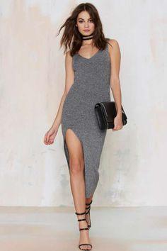 Madison Ribbed Midi Dress