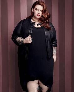 6020f7517bf Tess Holliday - Sleeveless Dress with Lace Lingerie Selfie