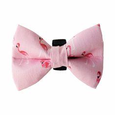 Fla-Fla-Flamingo Pink Bow Tie