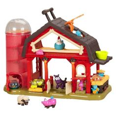 B toys by Battat – Baa-Baa-Barn Musical Farm Set – Interactive Animal Farm with 4 Animals and 2 Rattle Balls for Kids Toddler Gifts, Toddler Toys, Baby Toys, Kids Toys, First Birthday Gifts, First Birthdays, 2nd Birthday, Birthday Ideas, Birthday Parties
