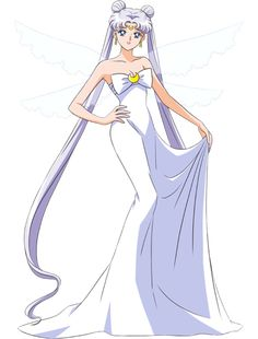 solitarysetsuna:  Queen Serenity with translucent wings.. Art by...