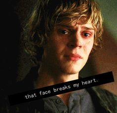 This face makes me want to comfort him and love him like Violet never could. American Horror Story. Tate Langdon.