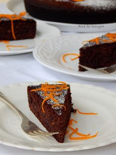 Food for thought: Σοκολάτα Flowerless Chocolate Cake, Sweet Recipes, Keto Recipes, Flourless Chocolate, Fashion Cakes, Chocolate Orange, Clean Eating Snacks, Food For Thought, Cupcake Cakes