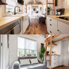Here we compile beautiful and convenient-looking tiny house bathroom ideas for you to use as reference. Check our tiny bathroom design! Modern Tiny House, Tiny House Living, Tiny House Plans, Building A Container Home, Container House Plans, Container Houses, Rustic Bathroom Designs, Bathroom Ideas, Tiny House Bathroom