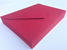 50 A7 5x7 Red Paper Source Invitation Envelopes by SEEDInvites, $20.00