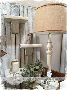 **My Desert Cottage**. Love those book shelves, so clever!