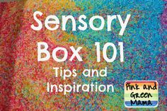 Pink and Green Mama: Sensory Boxes 101 Tips and Inspiration