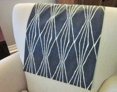 Headrest Chair Protector Or Cover, Charcoal Ivory Cotton Fabric, X Recliner/ Chair/Sofa Head Rest Cover, Leather Or Upholstery