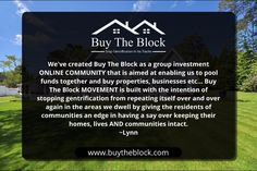 JOIN & BECOME A BLOCK DEVELOPER TODAY! CREATE THE NEIGHBORHOODS YOU WANT TO LIVE IN, BE THE CHANGE YOUR CITY NEEDS. https://buytheblock.com/block-developers?utm_content=buffer3d817&utm_medium=social&utm_source=pinterest.com&utm_campaign=buffer