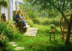 Good Memories by Robert Duncan. This is the best place to be. Your garden, lazy summer, and sharing it all with the ones you love.
