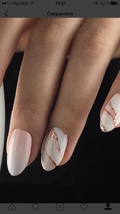 Marble Manis are a great way to incorporate your wedding colours!